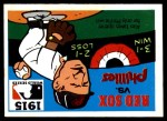 1971 Fleer World Series #13   1915 Red Sox / Phillies -    Front Thumbnail