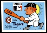 1971 Fleer World Series #6   1908 Cubs / Tigers  (Ty Cobb) -   Front Thumbnail