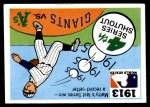 1971 Fleer World Series #11   1913 A's / Giants  (Christy Mathewson) -   Front Thumbnail