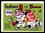 1970 Fleer World Series #45   1948 Indians vs. Braves Front Thumbnail