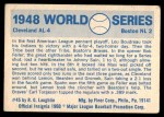 1970 Fleer World Series #45   1948 Indians vs. Braves Back Thumbnail