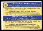 1970 Topps #88   -  Dick Baney / Miguel Fuentes Pilots Rookies Back Thumbnail