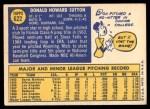 1970 Topps #622  Don Sutton  Back Thumbnail