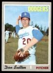 1970 Topps #622  Don Sutton  Front Thumbnail