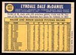 1970 Topps #493  Lindy McDaniel  Back Thumbnail
