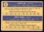 1970 Topps #96   -  Leron Lee / Jerry Reuss Cardinals Rookies Back Thumbnail