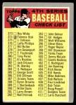 1970 Topps #343 BRN  Checklist 4 Front Thumbnail