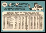 1965 Topps #446  Art Mahaffey  Back Thumbnail