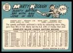1965 Topps #263  Marty Keough  Back Thumbnail