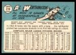 1965 Topps #216  Al Worthington  Back Thumbnail