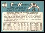 1965 Topps #47 ERR Tommy Harper  Back Thumbnail