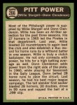 1967 Topps #266   -  Willie Stargell / Donn Clendenon Pitt Power Back Thumbnail