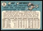 1965 Topps #169  Dave Vineyard  Back Thumbnail