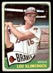 1965 Topps #542  Lou Klimchock  Front Thumbnail