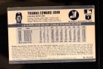 1971 Kellogg's #74  Tommy John  Back Thumbnail