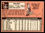 1969 Topps #664  Ron Hunt  Back Thumbnail