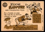 1960 Topps #226  Eddie Sawyer  Back Thumbnail