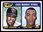 1965 Topps #201   -  Cesar Tovar / Sandy Valdespino Twins Rookies Front Thumbnail