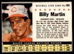 1961 Post #190 BOX Billy Martin   Front Thumbnail