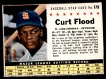 1961 Post #178 BOX Curt Flood   Front Thumbnail