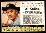 1961 Post #35 BOX Al Kaline   Front Thumbnail
