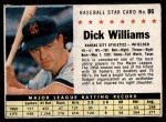 1961 Post #86 BOX Dick Williams   Front Thumbnail