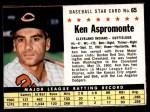 1961 Post #65 BOX Ken Aspromonte   Front Thumbnail