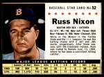 1961 Post #52 BOX Russ Nixon   Front Thumbnail