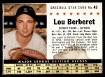 1961 Post #43 BOX Lou Berberet   Front Thumbnail