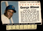 1961 Post #195 BOX George Altman   Front Thumbnail