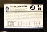 1972 Kellogg's #12  Bill Melton  Back Thumbnail