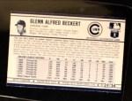 1972 Kellogg's #24  Glenn Beckert  Back Thumbnail