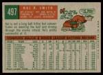 1959 Topps #497  Hal R. Smith  Back Thumbnail