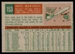 1959 Topps #153  Jim Marshall  Back Thumbnail