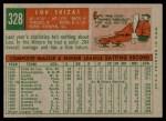 1959 Topps #328  Lou Skizas  Back Thumbnail