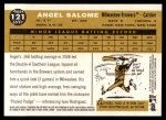 2009 Topps Heritage #121  Angel Salome  Back Thumbnail