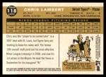 2009 Topps Heritage #118  Chris Lambert  Back Thumbnail