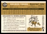2009 Topps Heritage #109  Delmon Young  Back Thumbnail