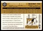 2009 Topps Heritage #131  Jonathon Niese  Back Thumbnail