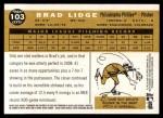 2009 Topps Heritage #103  Brad Lidge  Back Thumbnail