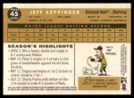 2009 Topps Heritage #45  Jeff Keppinger  Back Thumbnail