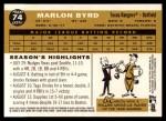 2009 Topps Heritage #74  Marlon Byrd  Back Thumbnail