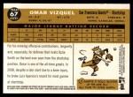 2009 Topps Heritage #67  Omar Vizquel  Back Thumbnail