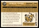 2009 Topps Heritage #129  James Parr  Back Thumbnail