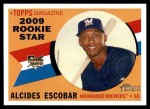 2009 Topps Heritage #143  Alcides Escobar  Front Thumbnail