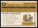 2009 Topps Heritage #30  Grady Sizemore  Back Thumbnail