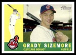 2009 Topps Heritage #30  Grady Sizemore  Front Thumbnail