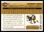2009 Topps Heritage #136  Matt Tuiasosopo  Back Thumbnail