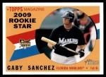 2009 Topps Heritage #127  Gaby Sanchez  Front Thumbnail