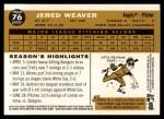 2009 Topps Heritage #76  Jered Weaver  Back Thumbnail